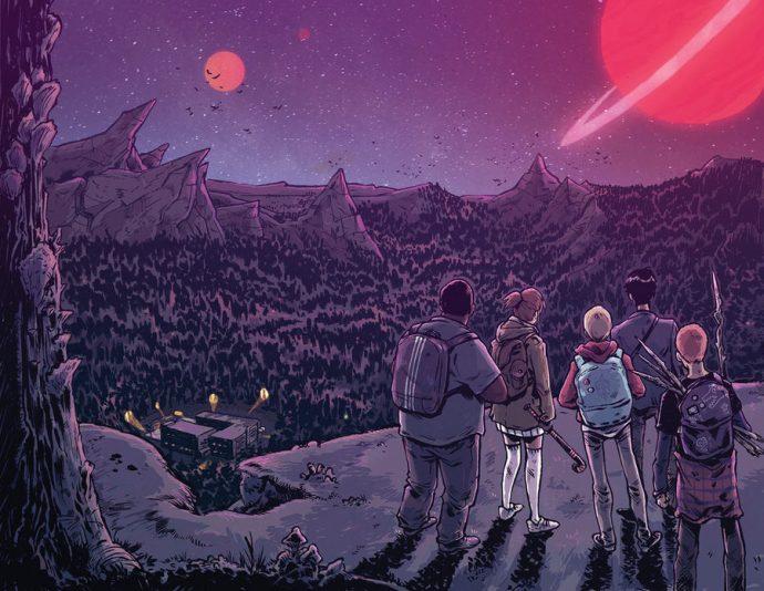 La lune mystérieuse de The Woods