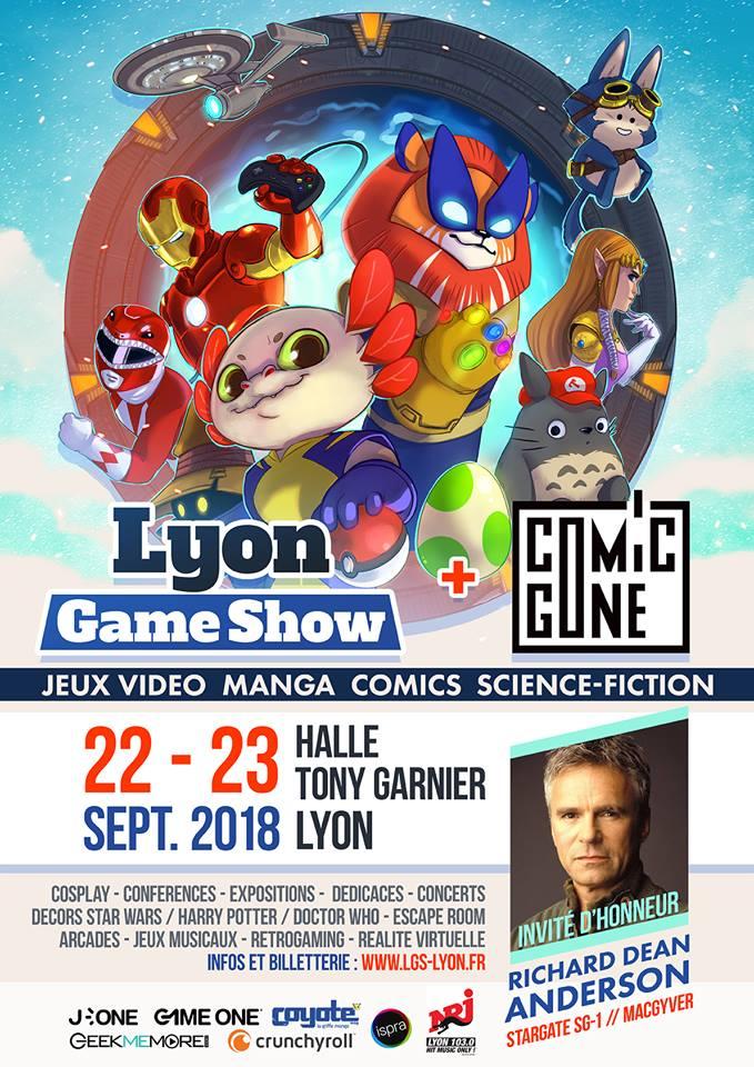 Lyon Game Show 2018 Comic Gone Affiche LGS